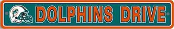 Miami Dolphins Street Sign | By DomesticBin