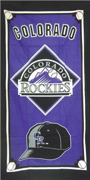 COLORODO ROCKIES Cap Series Beach Towel | By DomesticBin
