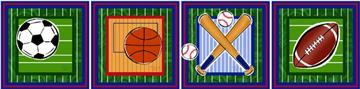Sports Fun Wall Impressions | By DomesticBin