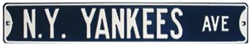 New York Yankees Ave Steel Street Sign | By DomesticBin