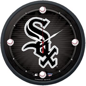 "Chicago White Sox 12.75"" Round Clock | By DomesticBin"