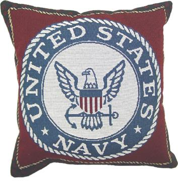 """United States Navy 13"""" Tapestry Pillow 