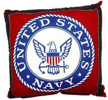 """United States Navy 17"""" Cotton Pillow 