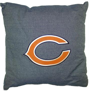 """NFL Chicago Bears Denim 18"""" Square Pillow 