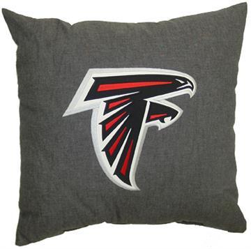 "NFL Atlanta Falcons Denim 18"" Square Pillow | By DomesticBin"