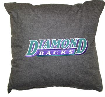"ARIZONA DIAMONDBACKS 18"" Denim Square Pillow | By DomesticBin"