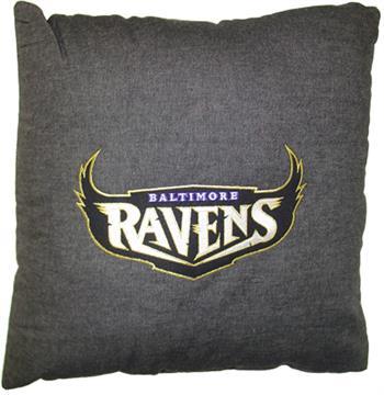 """BALTIMORE RAVENS 18"""" Denim Pillow   By DomesticBin"""