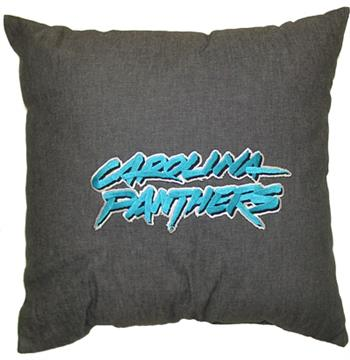 "CAROLINA PANTHERS 18"" Denim Pillow | By DomesticBin"