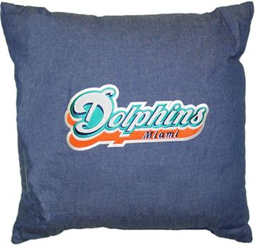 MIAMI DOLPHINS Denim Bedding Accessories | By DomesticBin