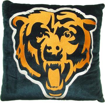 "CHICAGO BEARS 16"" Plush Pillow   By DomesticBin"