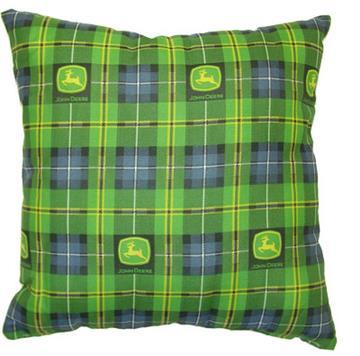 "John Deere Denim 16"" Square Pillow   By DomesticBin"
