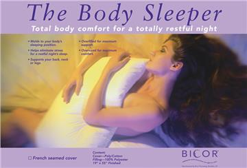 The Body Sleeper Pillow with Cover | By DomesticBin