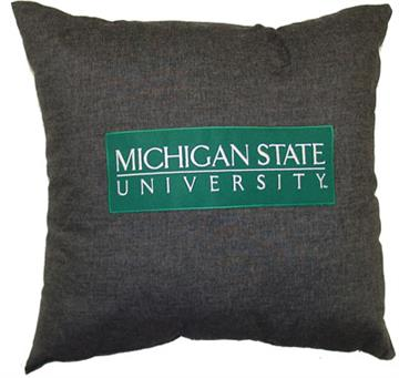 "Michigan State 18"" Square Pillow 