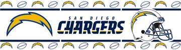 SAN DIEGO CHARGERS Wall Border | By DomesticBin