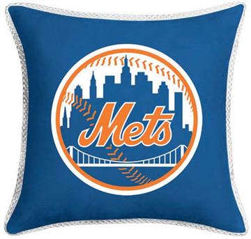 """MVP New York Mets 17"""" Square Pillow 