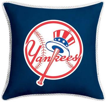 """MVP New York Yankees 17"""" Square Pillow   By DomesticBin"""
