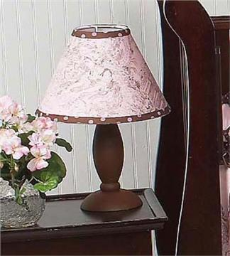 Pink & Brown Toile Lamp Shade