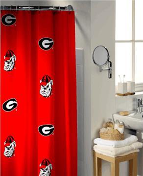 University of Georgia Collegiate Shower Curtain   By DomesticBin