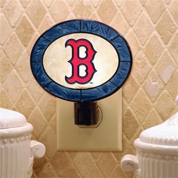 Boston Red Sox Art Glass Night Light | By DomesticBin