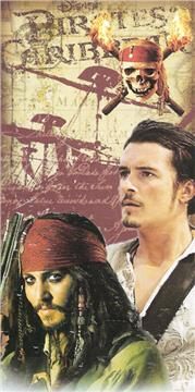 Pirates of the Caribbean SKULL Beach Towel   By DomesticBin