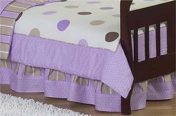 Mod Dots Purple Full/Queen Bedskirt | By DomesticBin