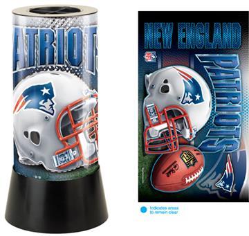 New England Patriots Rotating Lamp | By DomesticBin