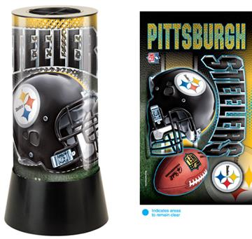 Pittsburgh Steelers Rotating Lamp | By DomesticBin