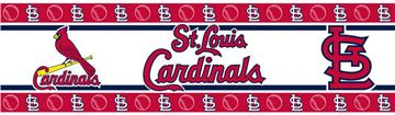 MLB St. Louis Cardinals Peel & Stick Wall Border   By DomesticBin