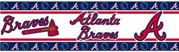 MLB Atlanta Braves Peel & Stick Wall Border | By DomesticBin