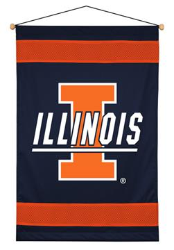 Illinois Fighting Illini Sidelines Wall Hanging | By DomesticBin