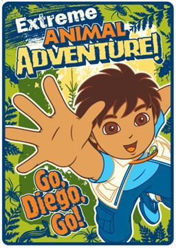 Diego Extreme Animal Adventure Plush Throw Blanket