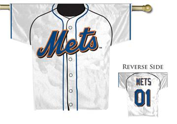 MLB New York Mets 2-Sided Jersey House Flag | By DomesticBin
