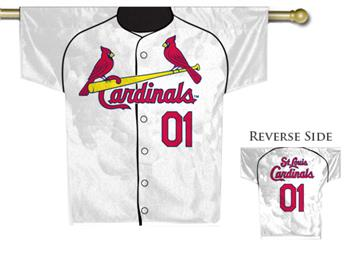 MLB St. Louis Cardinals 2-Sided Jersey House Flag   By DomesticBin