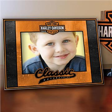 Harley Davidson Classic Art-Glass Picture Frame   By DomesticBin