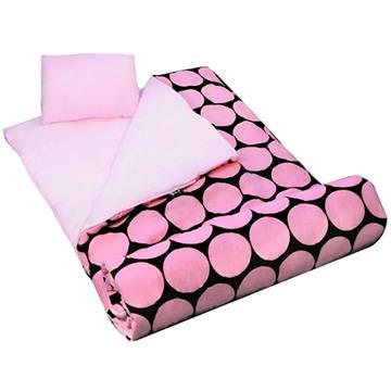 Big Dots Pink Sleeping Bag | By DomesticBin