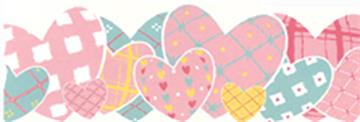 HEART TO HEART- Pink Wall Border | By DomesticBin