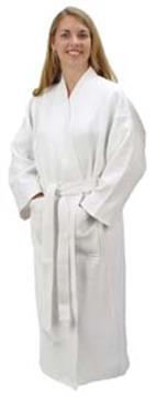 Waffle Weave Bath Robe 100% Cotton   By DomesticBin