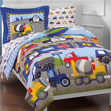 Trucks and Cars Mini Bed In A Bag for Kids