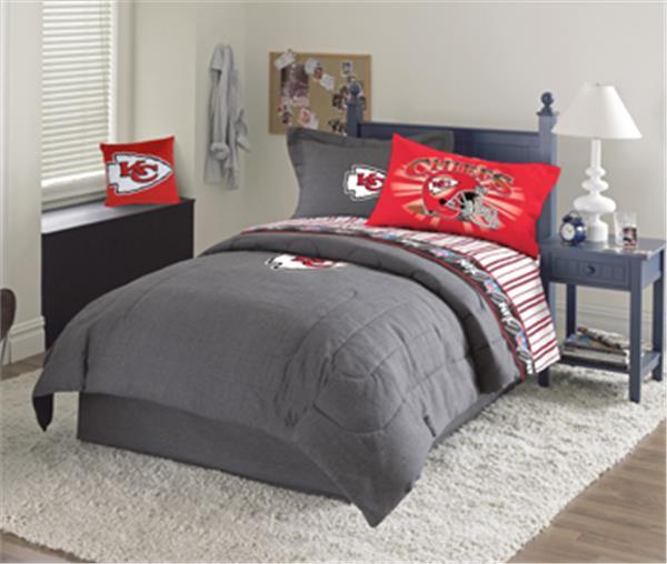 Kansas City Chiefs Denim Comforter Amp Sheet Set Combo