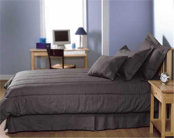 Solid Black Denim Bedding Amp Accessories