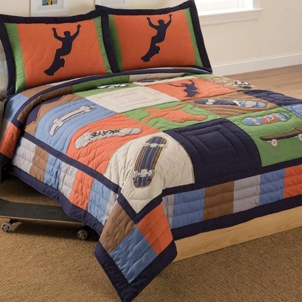 Cool Skate Quilted Bedding & Accessories By Pem America