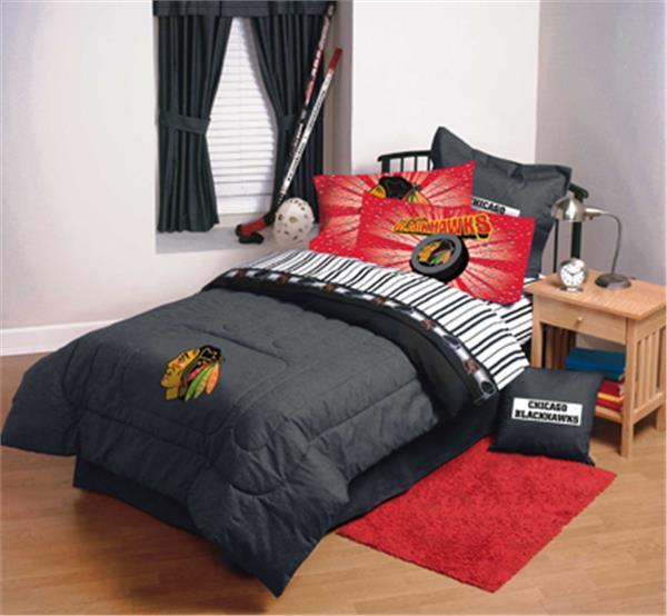 Chicago Blackhawks Denim Comforter Amp Sheet Set Combo