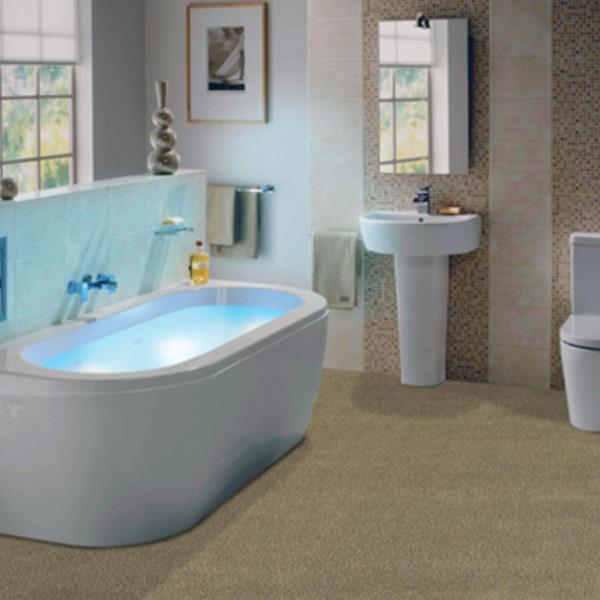 Wall to wall bath carpet for Wall to wall carpet for bathroom