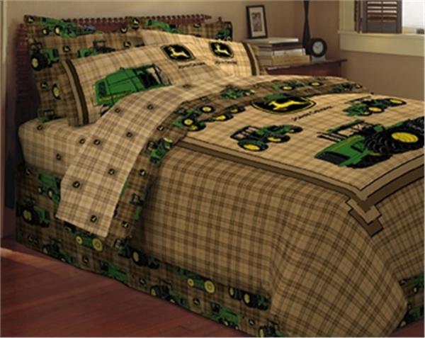 John Deere Tractor Bedding Set : John deere traditional bedskirt