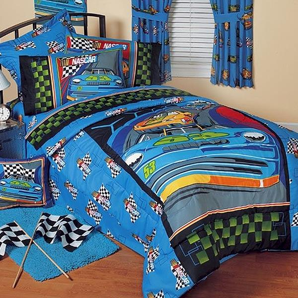 Nascar Victory Lap Kids Bedding For Boys Full Bedskirt