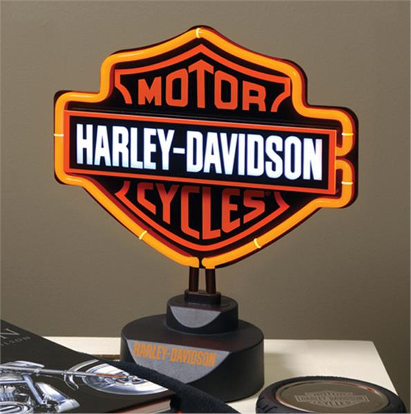 Harley Davidson Neon Table Lamp Lighting Domestic Bin