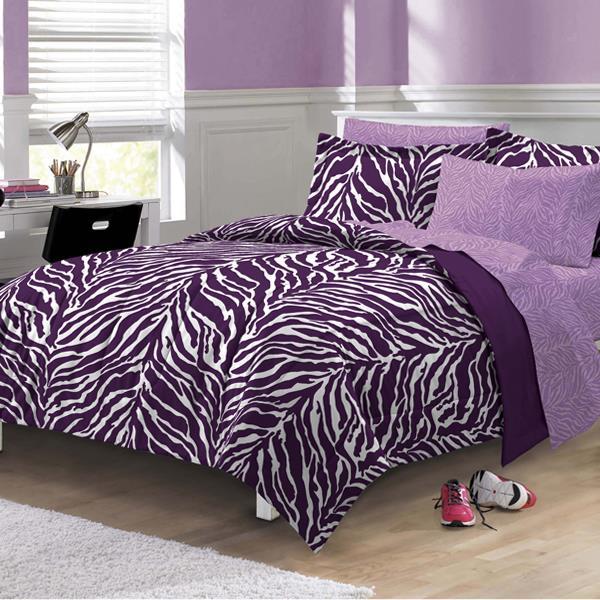 Zebra Purple Bed In A Bag